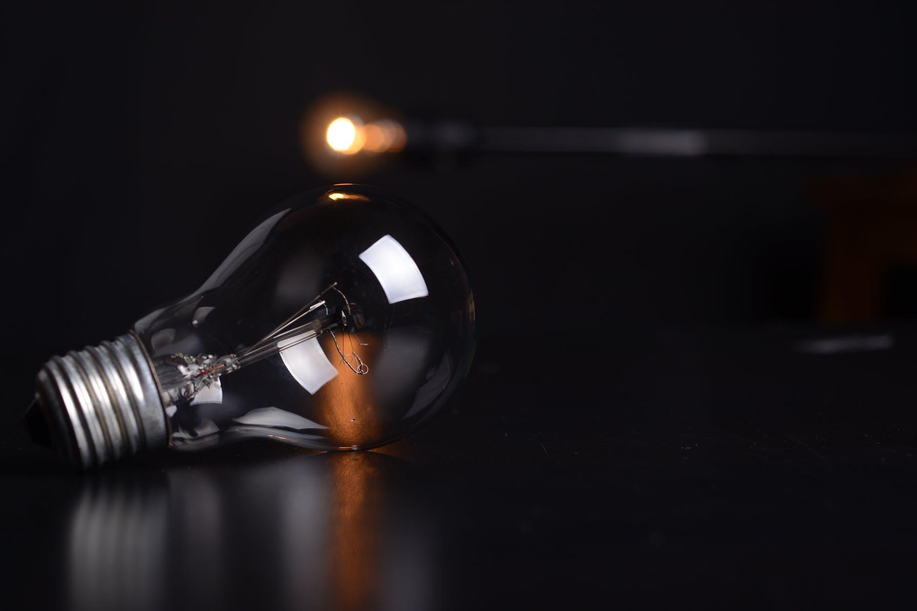 action blur bulb dark