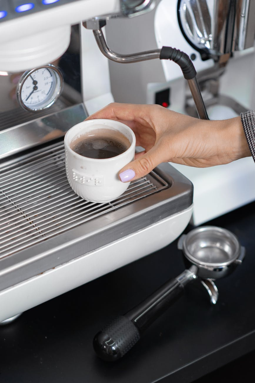 coffee cup hand industry